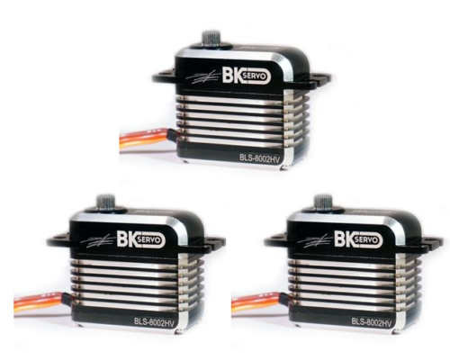 3x BK Servo BLS-8002HV, Brushless Cyclic Servo Speed Optimised (BKBL05)